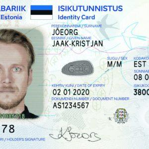 ID-карта нового образца. Фотография:  politsei.ee .