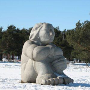 """Скульптура """"Думающий человек"""". Источник фото:  et.wikipedia.org."""